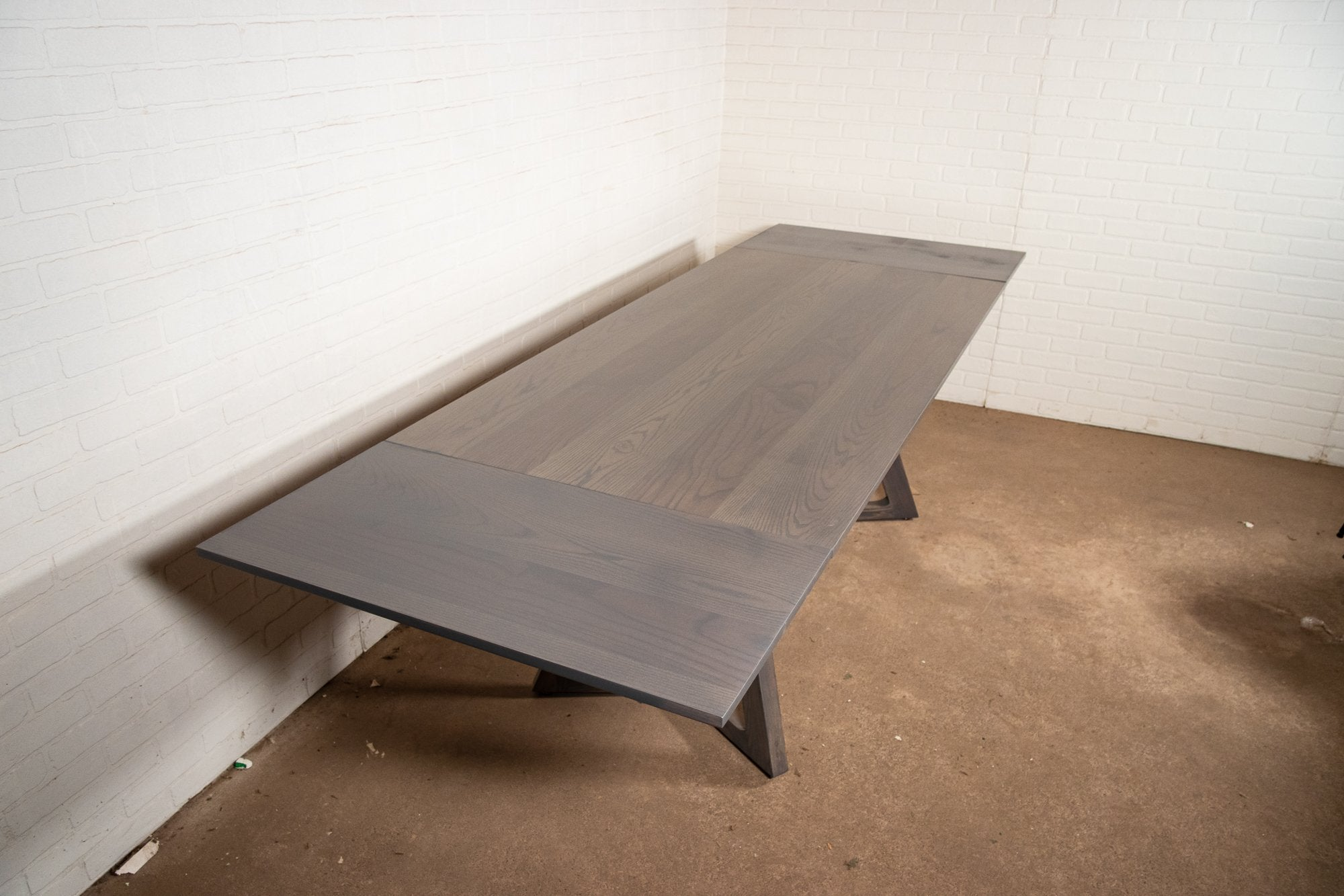 Ash Extendable Table in Slate Grey - Loewen Design Studios