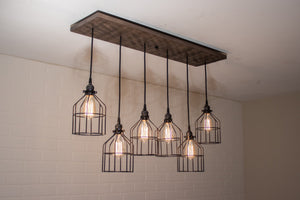 Custom 6 pendant light fixture for Lisa - Loewen Design Studios