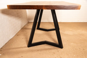 Custom live edge table and bench for Dana - Loewen Design Studios
