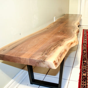 Custom live edge walnut bench for Chris - Loewen Design Studios