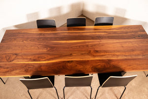 Custom Live Edge Walnut table for Marleen - Loewen Design Studios