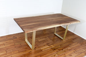 Custom Live Edge Walnut Table for Ranjita - Loewen Design Studios