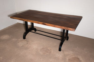 Custom live edge walnut table for Sara - Loewen Design Studios