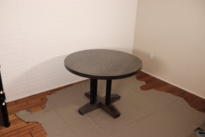 Custom Round Ash Dining Table for Sue and Brian - Loewen Design Studios