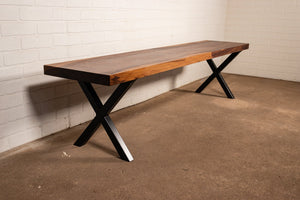 Custom walnut bench for Megan - Loewen Design Studios