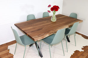 Customer live edge table for Amy - Loewen Design Studios