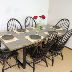 Dining Table + Matching Bench for Kimberly - Loewen Design Studios