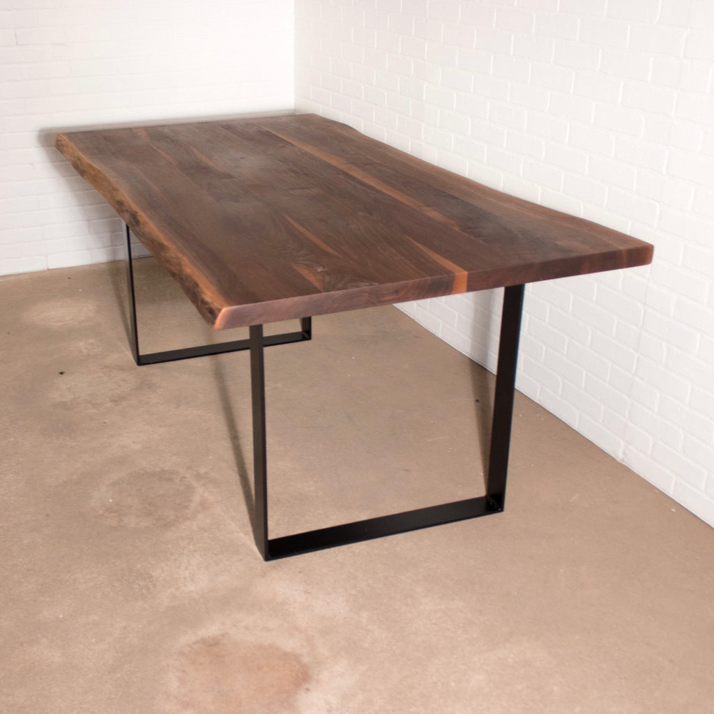 Industrial Live Edge Walnut Table - Loewen Design Studios