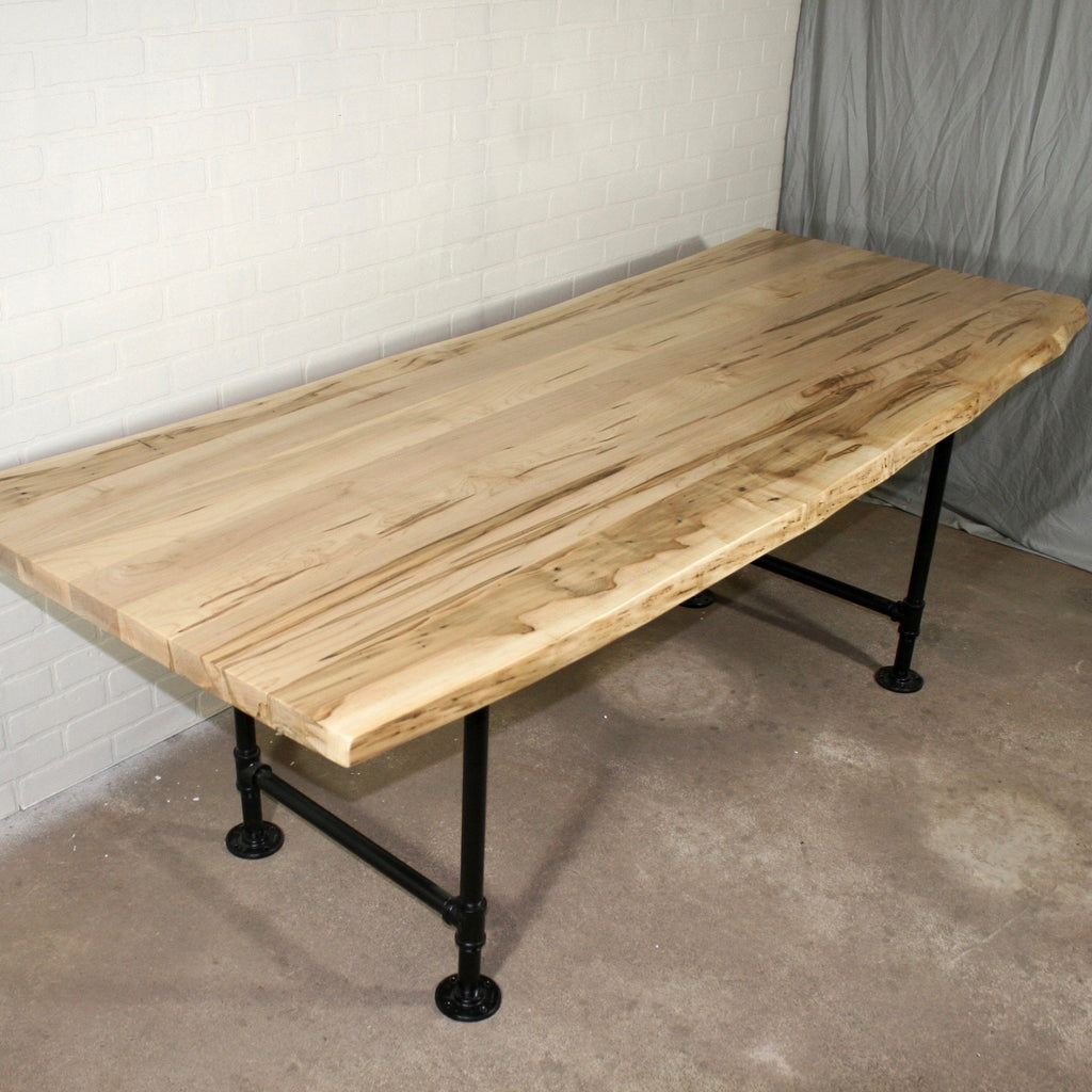Live Edge Maple Dining Table - Loewen Design Studios