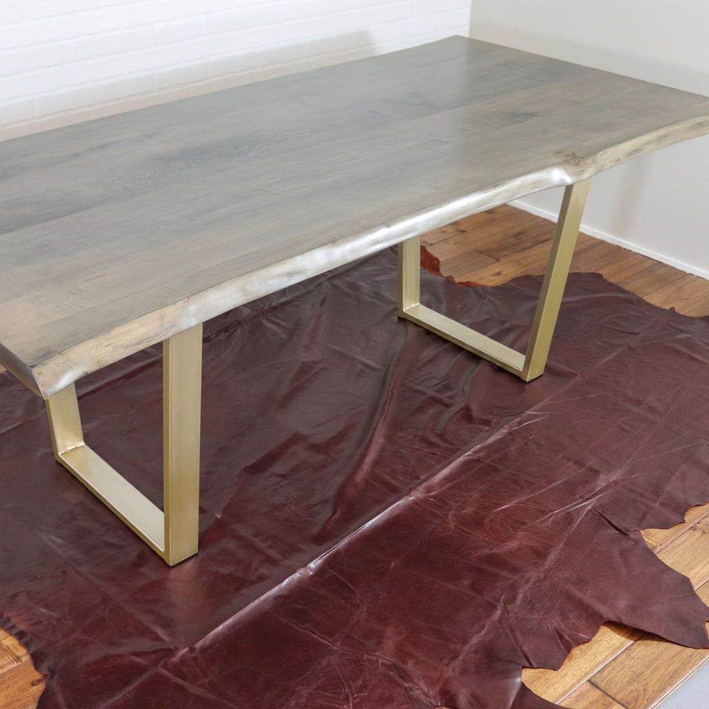 Live Edge Maple Farmhouse Table - Loewen Design Studios