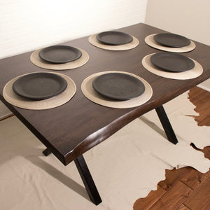 Live Edge Maple Kitchen Table - Loewen Design Studios