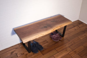 Live Edge Walnut Bench - Loewen Design Studios
