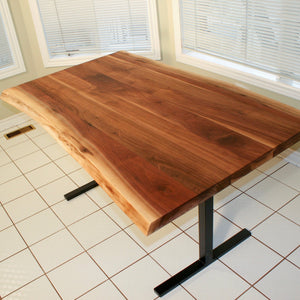 Live Edge Walnut Kitchen Table - Loewen Design Studios