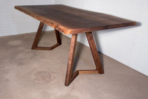 Live edge walnut table for Barbara - Loewen Design Studios