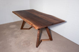 Live edge walnut table for Deborah - Loewen Design Studios