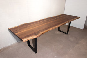 Live edge walnut table for Mark - Loewen Design Studios