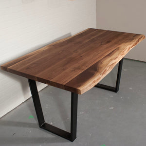 Live edge walnut table for Shannon - Loewen Design Studios