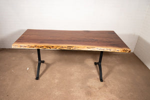Live Edge Walnut Table on Wishbone Legs - Loewen Design Studios
