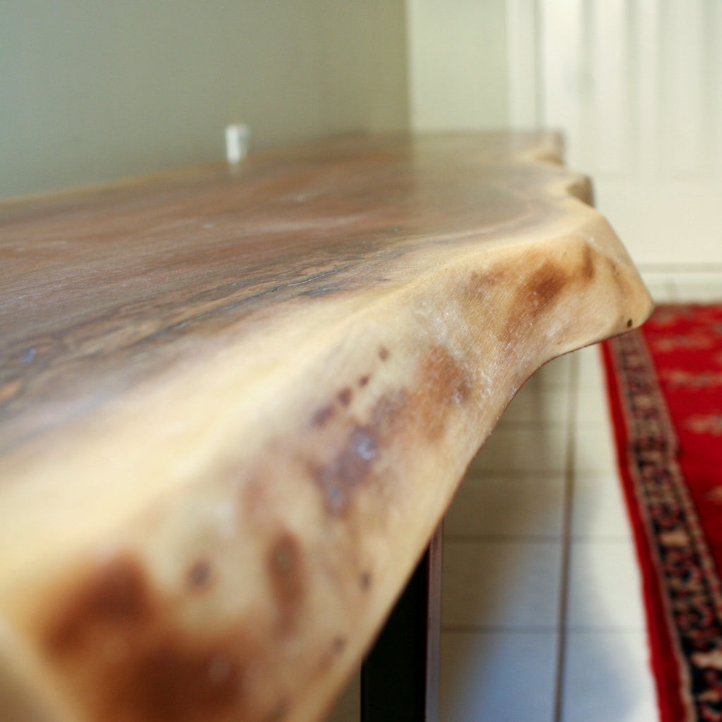 Long Live Edge Walnut Bench - Loewen Design Studios