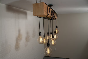 Natural Wood Beam Light - Loewen Design Studios
