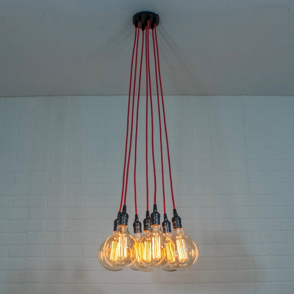 Red 7 Pendant Cluster Light - Loewen Design Studios