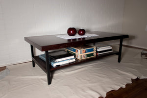 Red Maple Coffee Table with Shelf - Loewen Design Studios