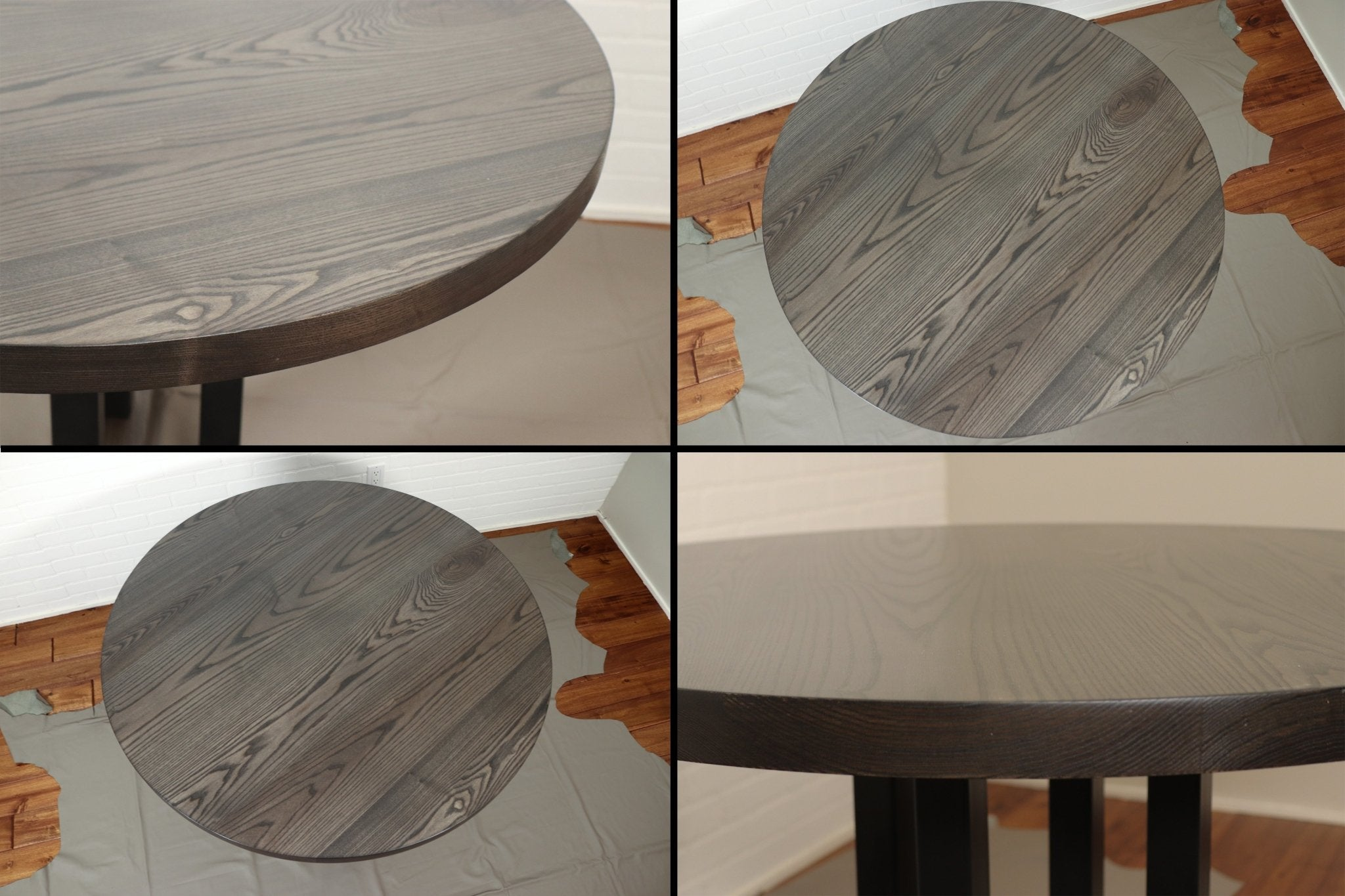 Round Grey Dining Table - Loewen Design Studios