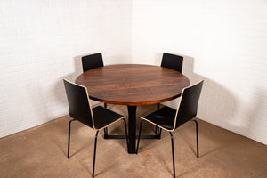 Round Walnut Table - Loewen Design Studios