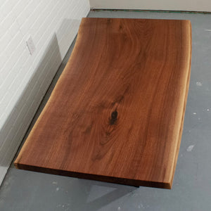 Single Slab Walnut Coffee Table - Loewen Design Studios