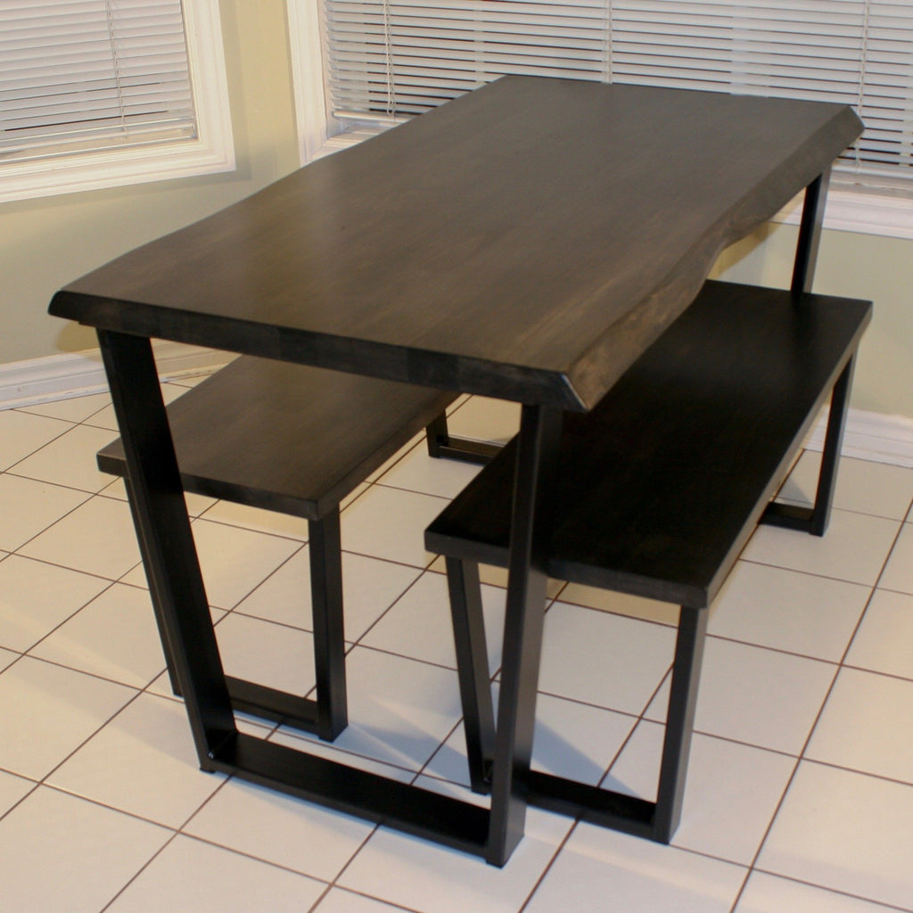 Small Live Edge Dining Set - Loewen Design Studios