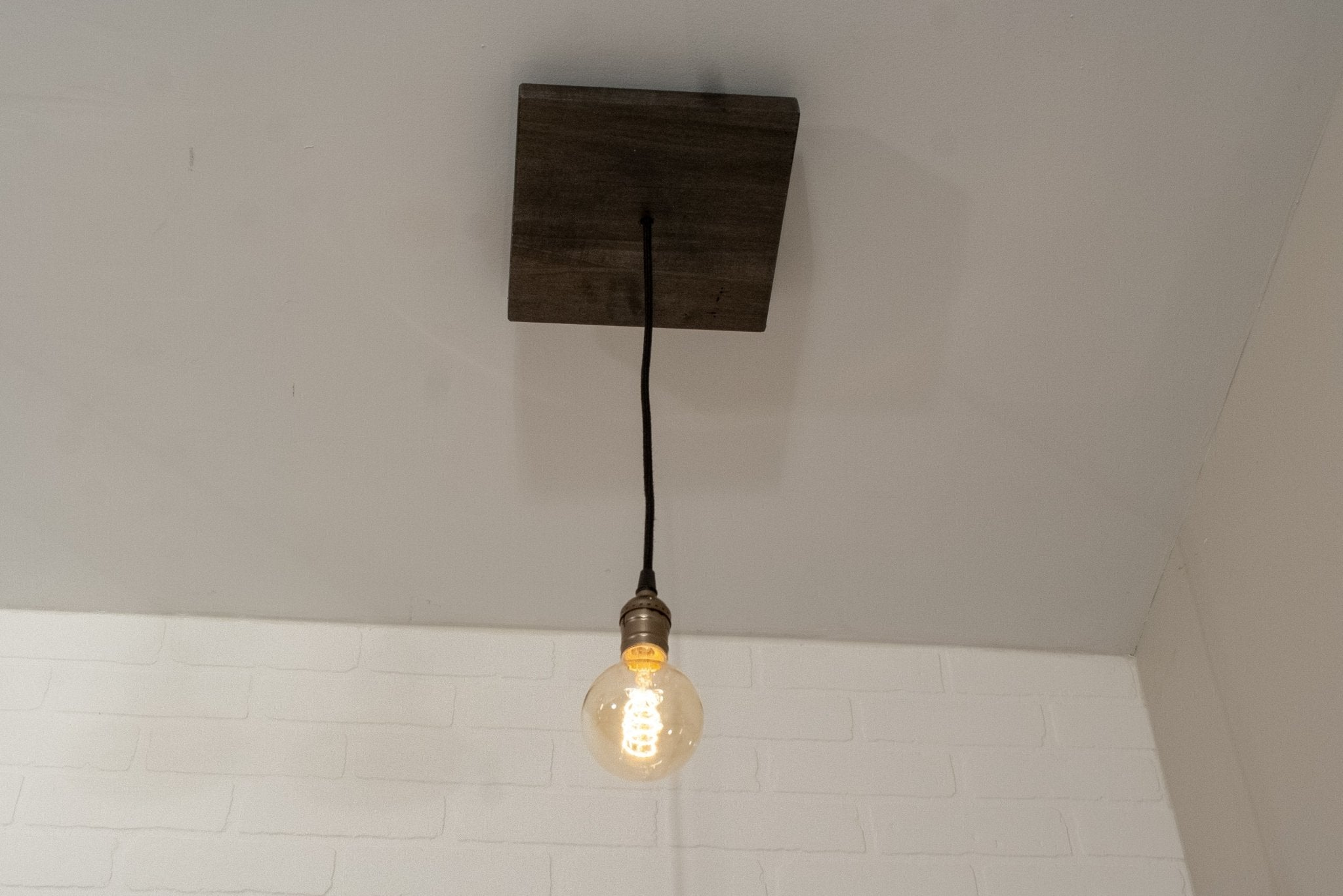 Small Wood Pendant Light - Loewen Design Studios