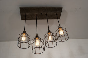 Two walnut light fixtures for Marina - Loewen Design Studios