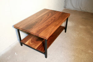 Walnut Coffee Table with Shelf - Loewen Design Studios