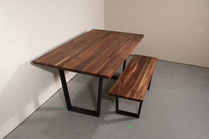 Walnut Dining Table and Bench - Loewen Design Studios