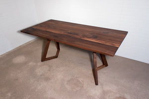 Walnut dining table for Jennifer Custer - Loewen Design Studios