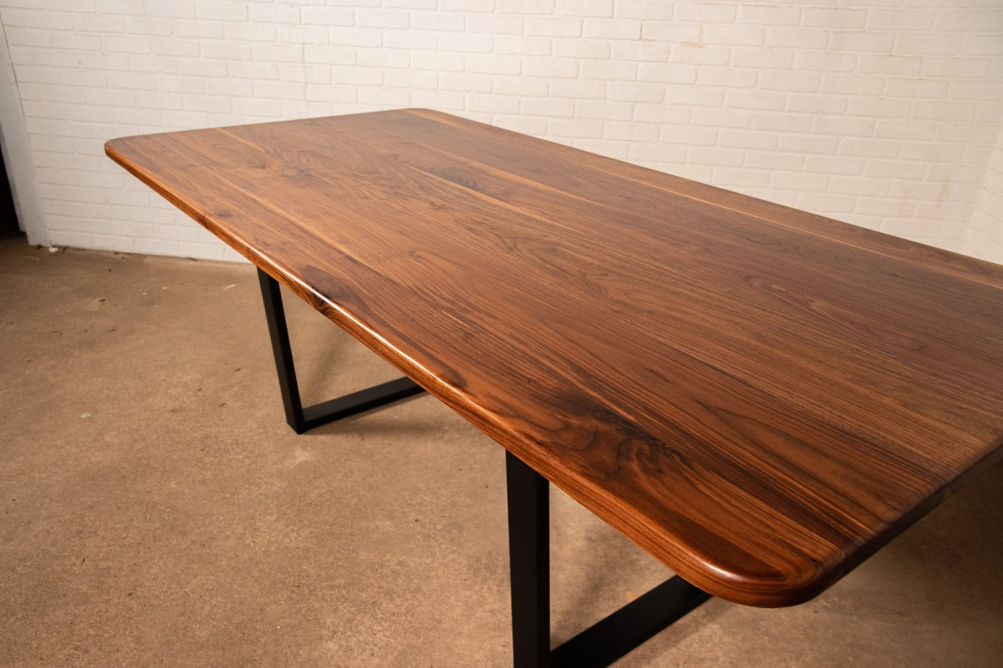 Walnut Dining Table with Rounded Corners - Loewen Design Studios
