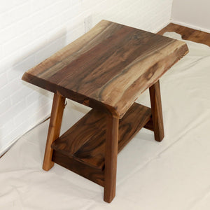 Walnut End Table with Removable Shelf - Loewen Design Studios