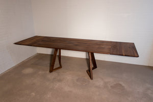 Walnut extension table for Rebecca - Loewen Design Studios