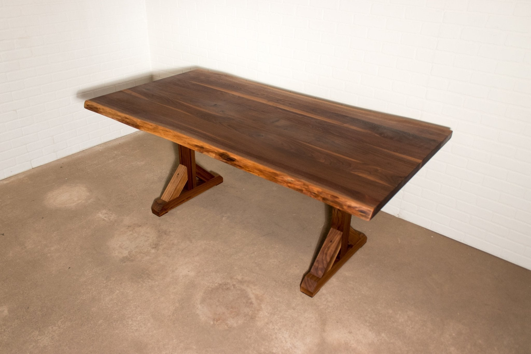 Walnut Farmhouse Dining Table - Loewen Design Studios