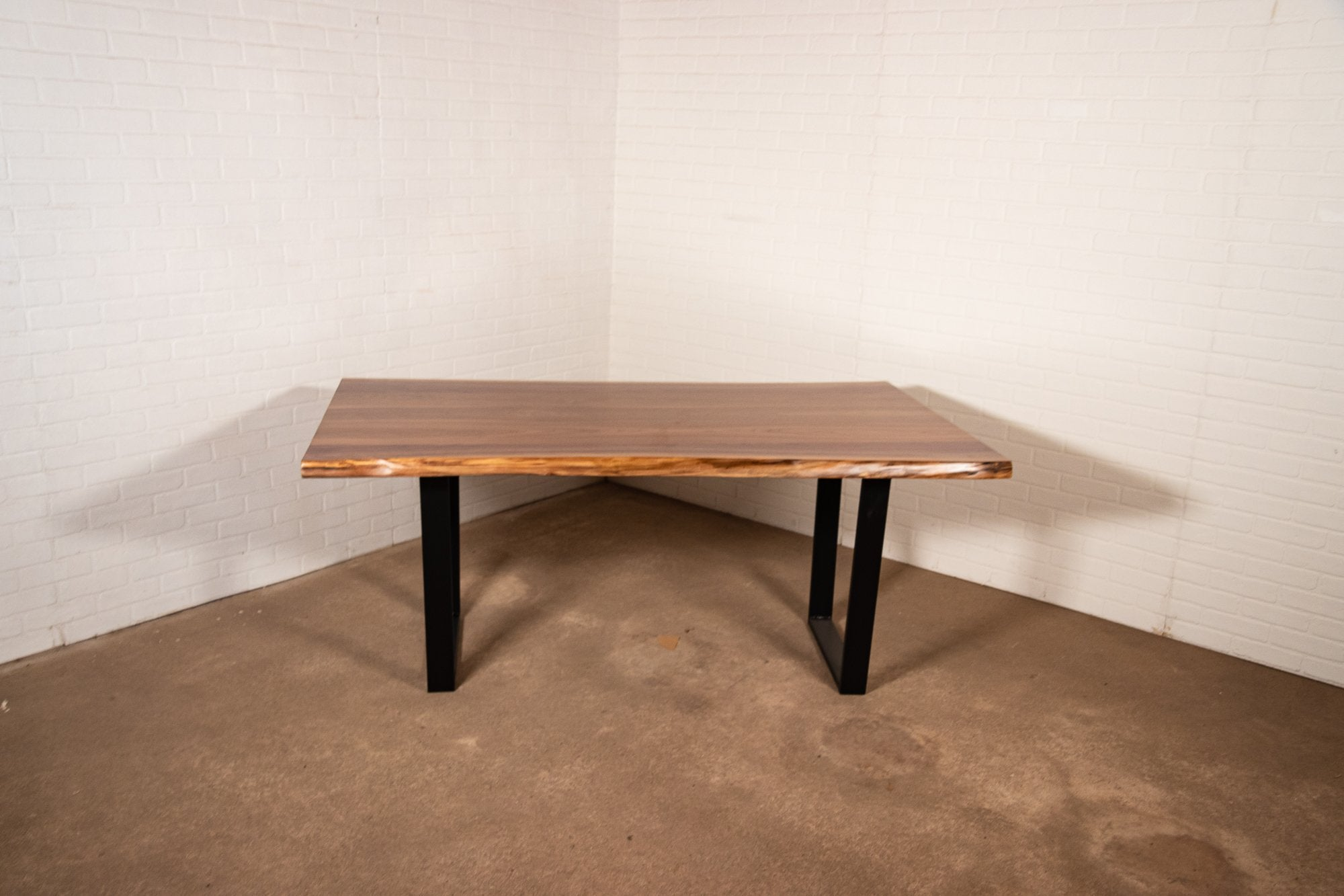 Walnut Live Edge Table with Lacquer Finish - Loewen Design Studios