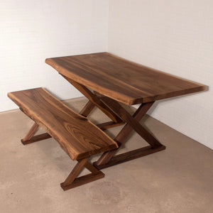 Walnut Table and Bench - Loewen Design Studios