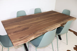 Walnut Table and Bench for Theresa - Loewen Design Studios