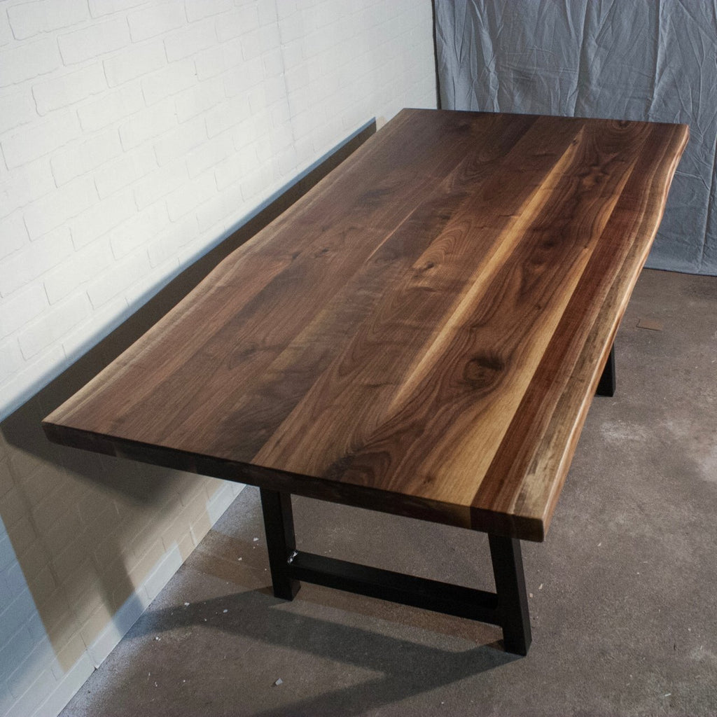 Walnut Table on A Frame Legs - Loewen Design Studios