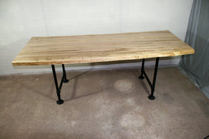 Wormy Maple Straight Edge Table for PayTM - Loewen Design Studios