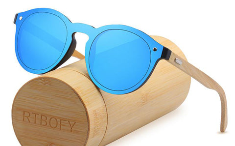 RTBOFY Contemporary Style Bamboo Sunglasses