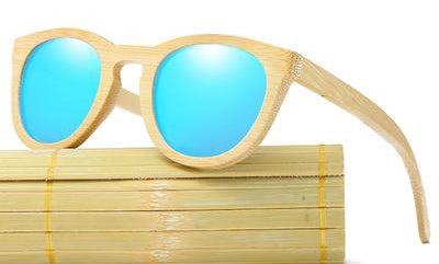 Full Bamboo Frame Sunglasses with UV400 Lenses