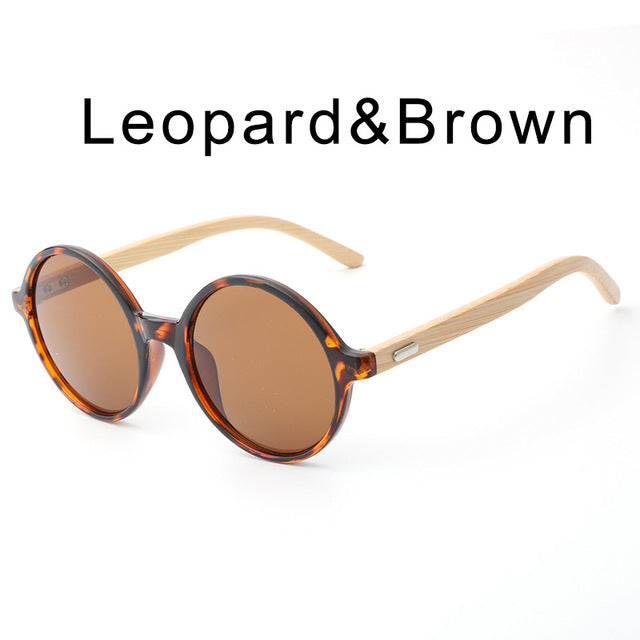 c119a8783c 2017 Round Frame Wooden Sunglasses New Arrival Men Women Retro Gafas  Handmade Bamboo Wood-Sunglasses