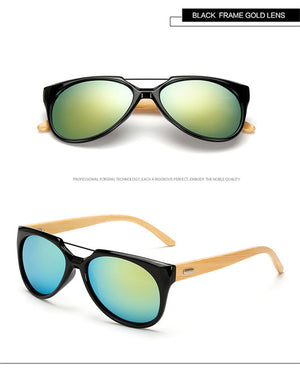 Long Keeper Gradient Bamboo Sunglasses with UV400 Lenses-Sunglasses-Bamboo Sunnies