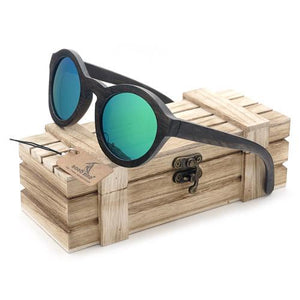BOBO BIRD Wooden Bamboo Sunglasses with Vintage Wooden Case-Sunglasses-Bamboo Sunnies