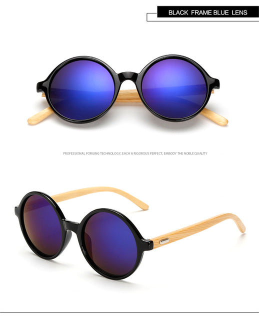 Long Keeper Sporty Bamboo Sunglasses with Gradient UV400 Lenses-Sunglasses-Bamboo Sunnies